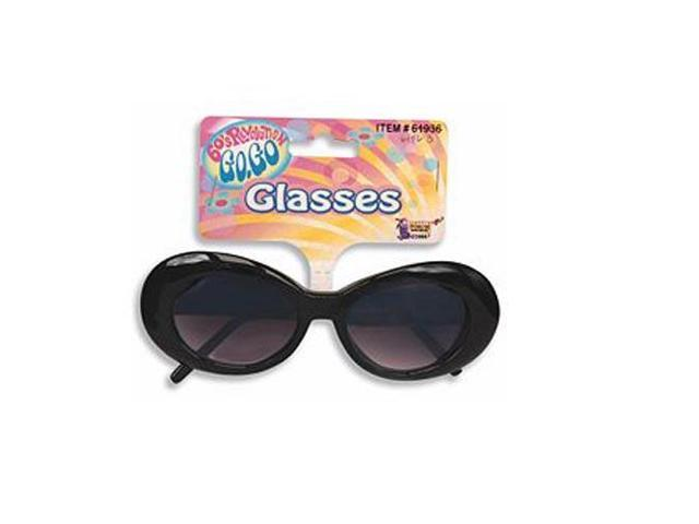 Mod Go Go Tinted Costume Glasses Adult: Black One Size Fits Most