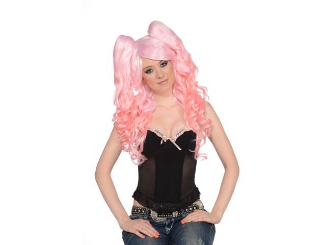 Yellow Wig Costume Pony Tail 108