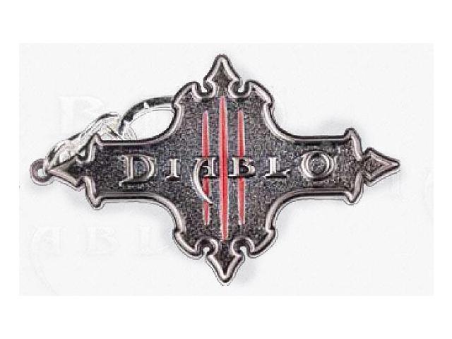 Diablo III Logo Keychain Silver