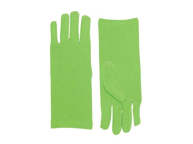 Short Light Green Adult Female Costume Dress Gloves One Size