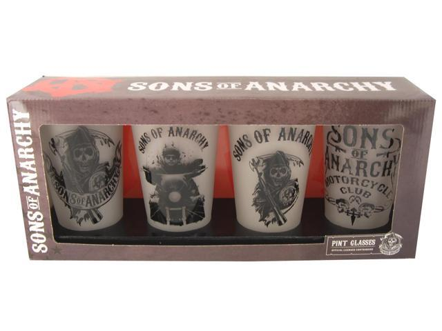 Sons Of Anarchy Frosted Pint Glass Set of 4