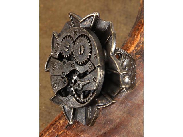 Steampunk Antique Watch Gears Costume Ring Adult One Size