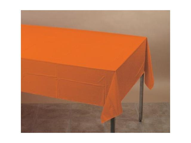 Touch Of Color Plastic Table Cover Sunkissed Orange