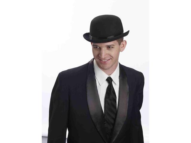 Super Deluxe Black Derby Adult Male Costume Hat One Size