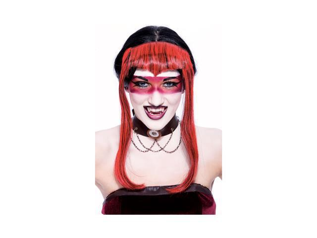 Chelsea Widow Peak Red Adult Costume Wig One Size