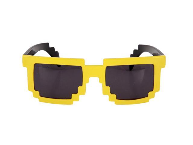 Pixel-8 Glasses Costume Glasses Adult: Yellow & Smoke One Size