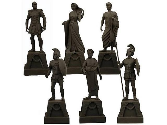 Clash Of The Titans Figurines Of Gods Prop Replica Set Of 6