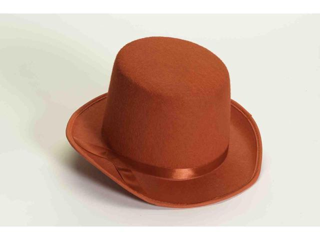 Red Felt Adult Costume Top Hat One Size