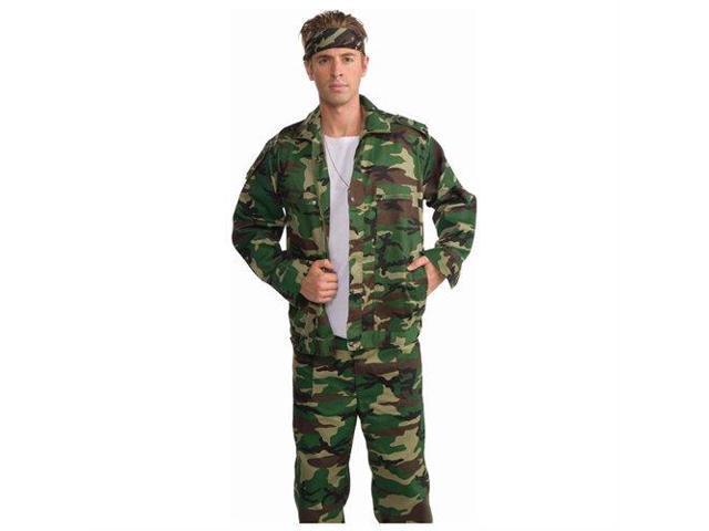 Combat Hero Camouflage Costume Jacket Adult X-Large