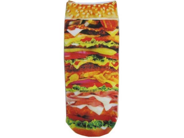 Cheeseburger Photo Print Ankle Socks