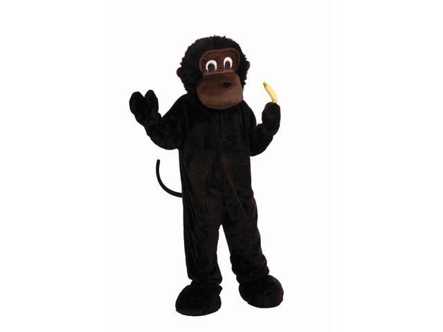 Deluxe Plush Gorilla Mascot Costume Adult Standard