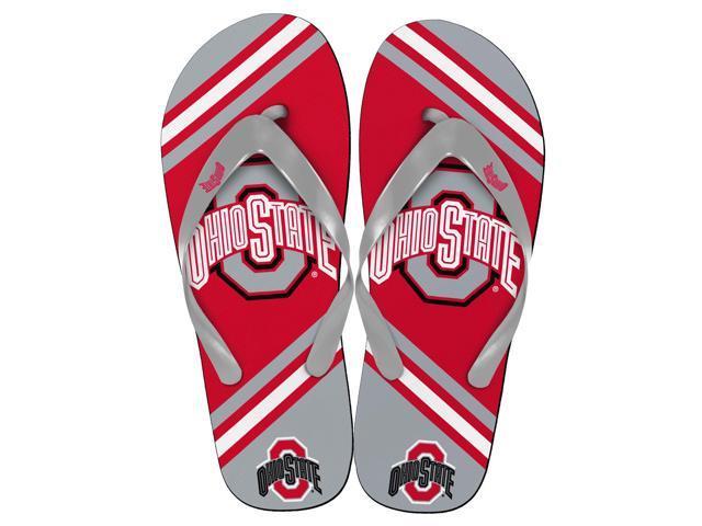 Ohio State Buckeyes Unisex Big Logo Flip Flops Small (W 7-8)