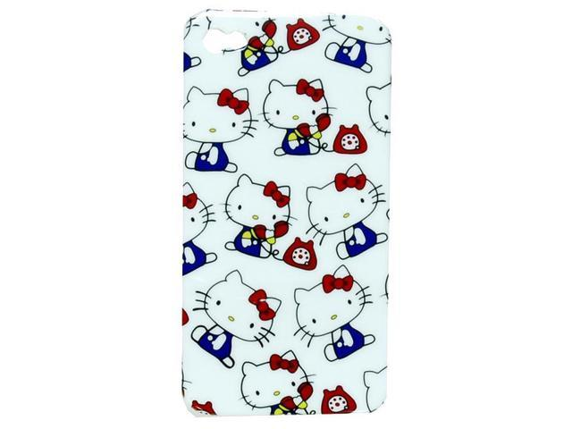 For iPhone 4 Cover Hello Kitty White W/Blue Dress And Red