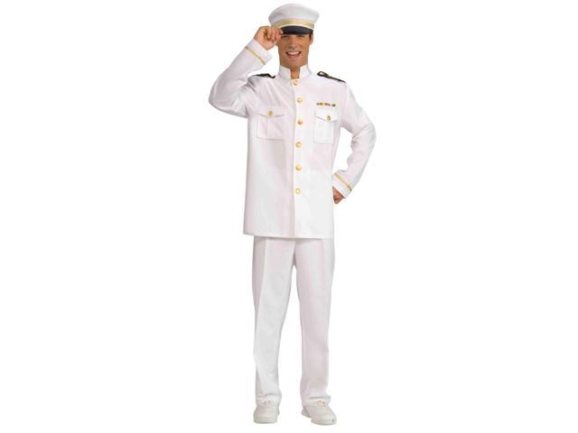 White Navy Officer Adult Male Costume Jacket One Size Fits Most