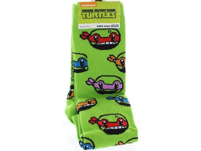 Teenage Mutant Ninja Turtles Anime Heads All Over Knee High Socks