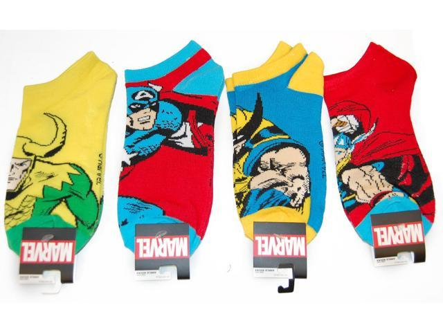 Marvel Character Ankle Socks 4 Pair