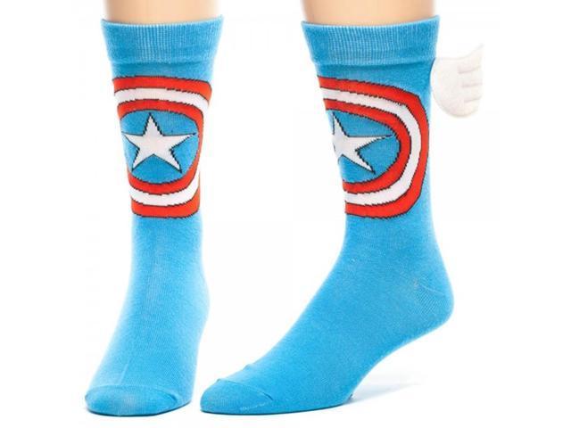 Marvel Captain America Crew Socks With Wings