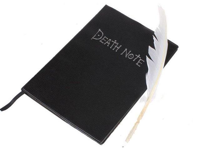Death Note Book With Feather Pen
