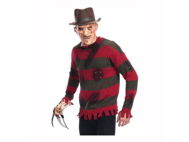 A Nightmare on Elm Street Adult Freddy Krueger Sweater Size X-Large