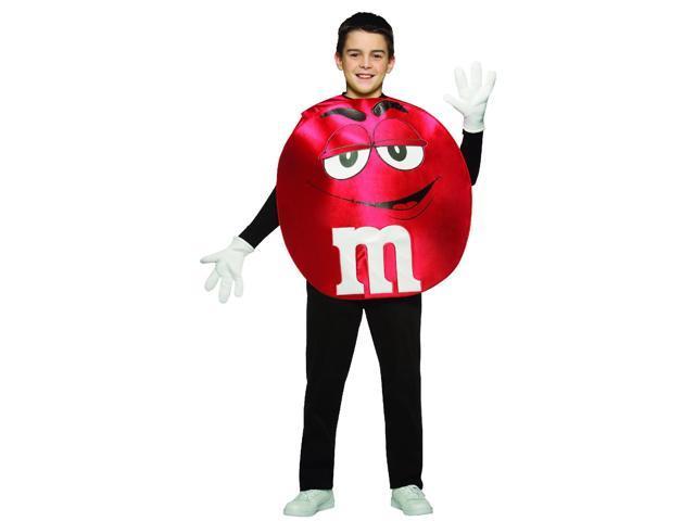 M&M Red Poncho Costume Teen Teen Standard