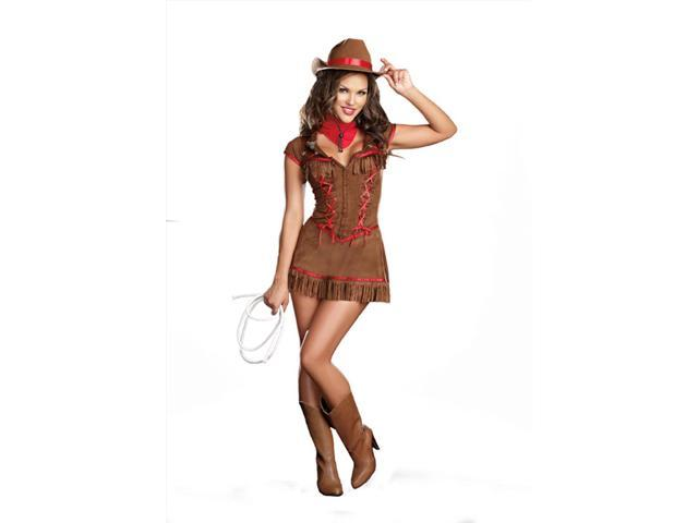 Sexy Giddy Up Western Cowgirl Dress Adult Large 10-14