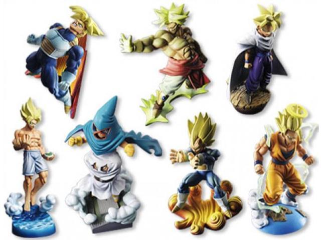 Dragonball Z Capsule Neo Super Soldier Trading Figure Set Of 7