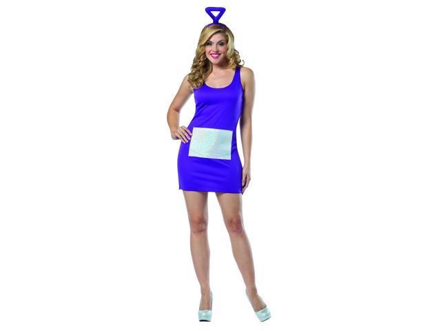 Teletubbies Tinky Winky Purple Tank Mini Dress Costume Adult One Size Fits Most