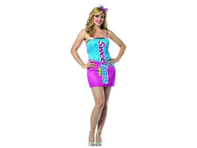 Nestle SweeTarts Costume Mini Dress Adult One Size Fits Most