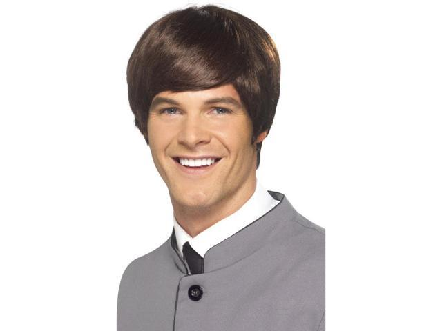 60's Male Mod Short Costume Wig Adult: Brown One Size