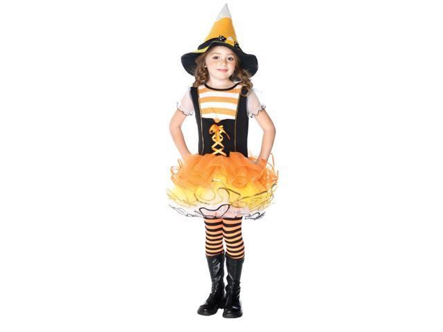 Candyland Witch Dress & Candy Corn Hat Costume Child X-Small 0-2