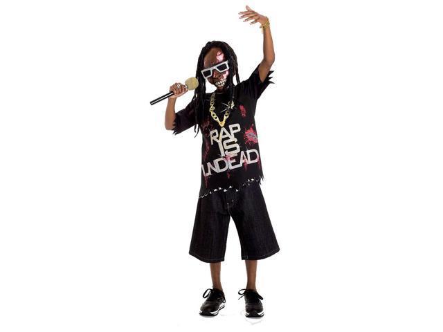 Zombie Icons Rapper Singer Dead Star Costume Child Medium 7-8