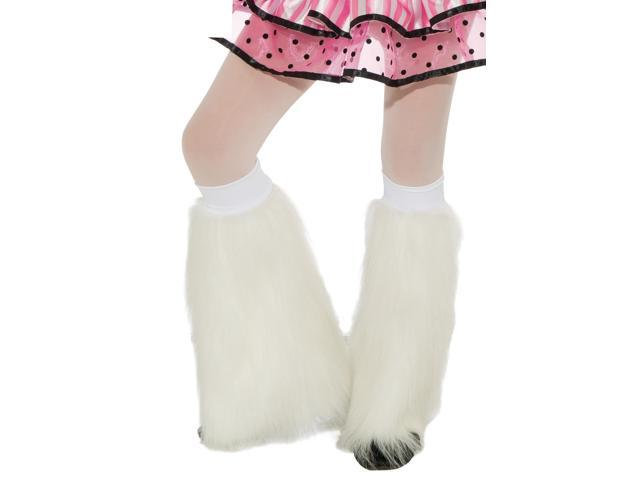 Fluffies Costume Leg Warmers Child: White One Size