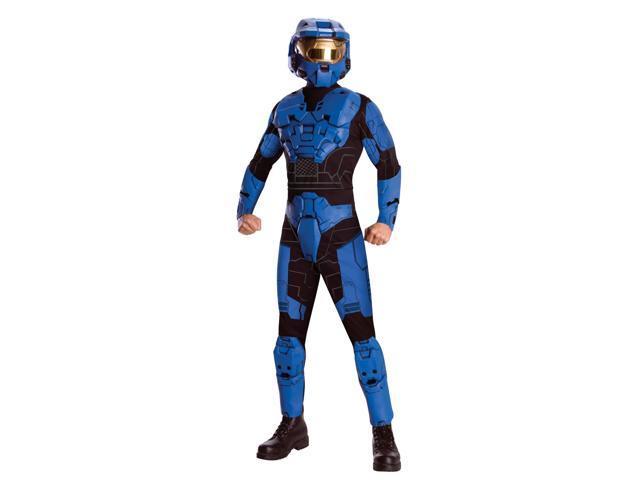 Halo Deluxe Blue Spartan Jumpsuit Costume Adult X-Large 44-46