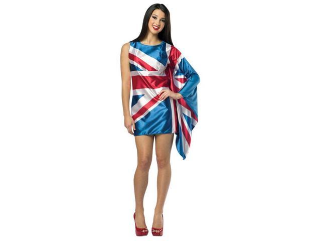 Flag Costume Dress Adult: UK 4-8