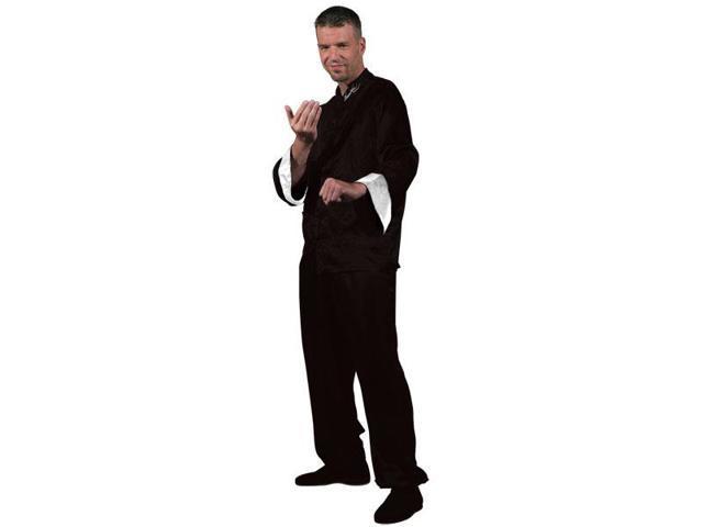 Bruce Lee Black Kung Fu Costume Adult Medium