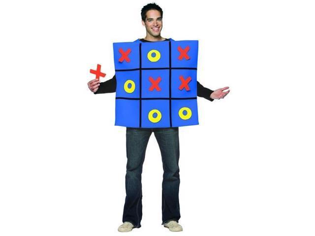 Blue Tic Tac Toe Board Game Tunic Costume Adult Standard