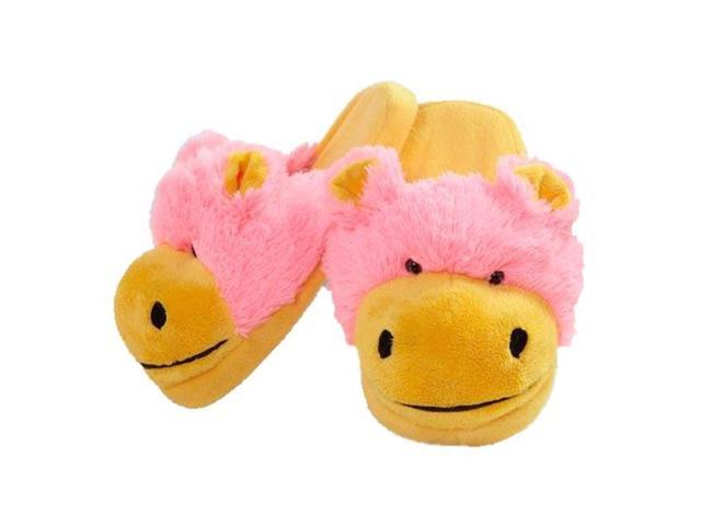 My Pillow Pets Neon Hippo Slippers Small Up To Toddler 10 ...