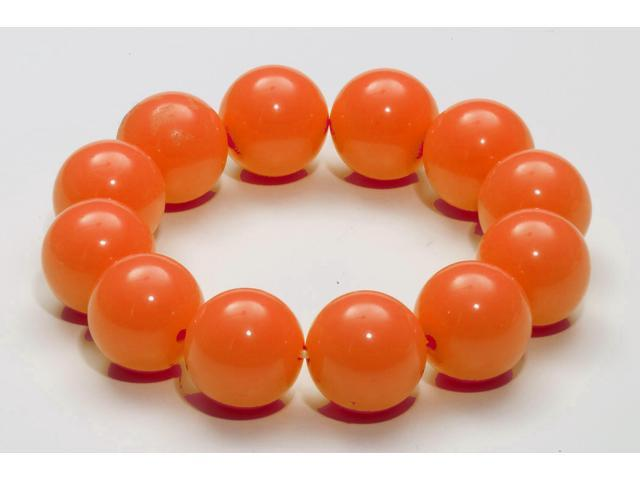 Club Candy Gumball Costume Bracelet: Orange One Size
