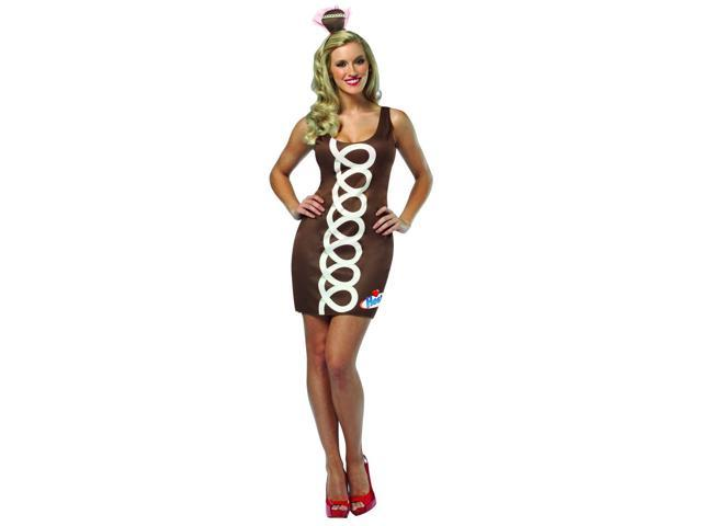 Hostess Chocolate Cupcake Tank Mini Dress Costume Adult One Size Fits Most