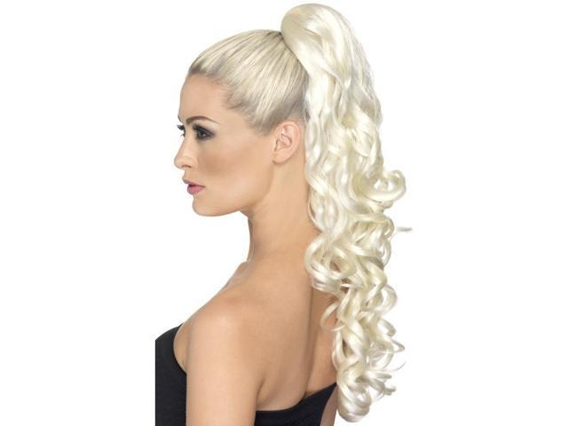Divinity Costume Clip-On Hair Extension: Curly Blonde One Size