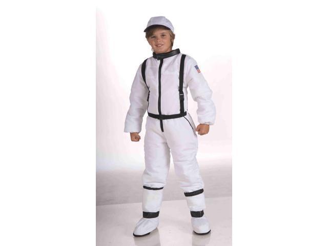 Space Explorer White Jumpsuit Astronaut Child Costume Small