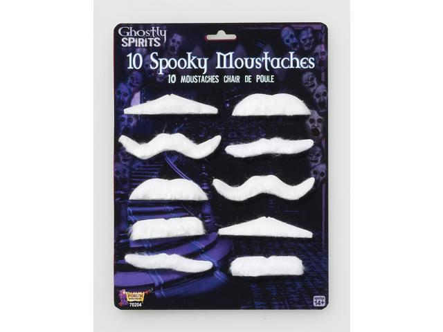 10-Piece Spooky Style Moustaches Costume Accessory Pack One Size