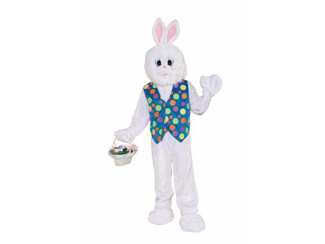 Funny Easter Bunny Plush Adult Costume One Size Fits Most