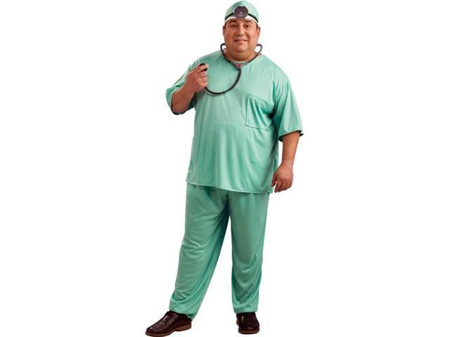 Green Doctorical Scrubs Costume Adult Plus Plus Size