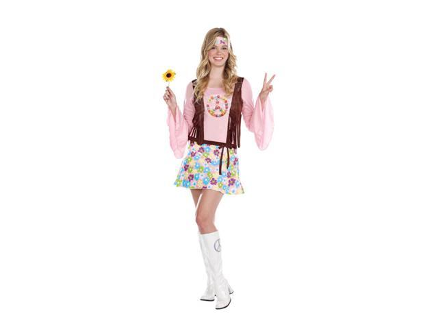 Peace Baby 60's Hippie Dress Costume Teen Junior Small 3-5