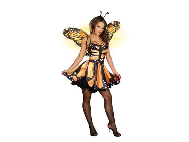 Sexy Monarch Fairy Butterfly Costume Dress Adult X-Small 0-2