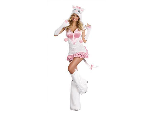 Sexy Pretty Kitty Costume Dress Adult Large