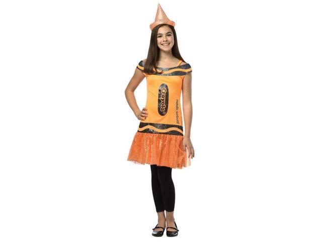 Crayola Glitz & Glitter Dress Costume Tween: Metallic Sunburst Tween 10-12