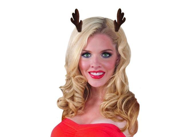 Antler Hair Clips Costume Accessory One Size