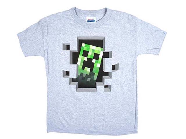 Minecraft Creeper Inside Youth T-Shirt Youth X-Small